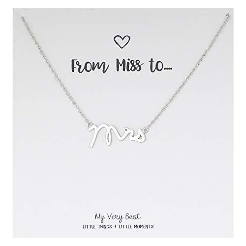 My Very Best Mrs Necklace (silver plated brass)]()
