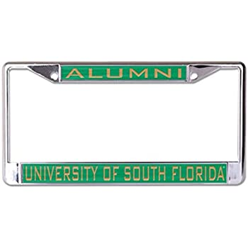 WinCraft University of South Florida Alumni Premium License Plate Frame Chrome Metal with Acrylic Inlay