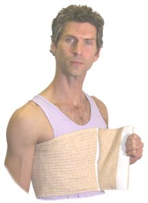 Male Chest Binder (Length: 46-55 Width: 10, Beige) by Expand-A-Band