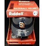 Signed Gwynn, Tony (San Diego Padres) Riddell San Diego Padres Mini Helmet autographed