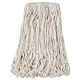 Banded Cotton Mop Head, #24, White, 12/Carton by Boardwalk