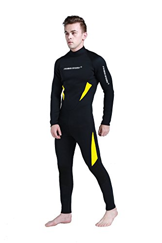 Peacoco 3mm Neoprene Diving Suits Lycra Wetsuit Full Body...