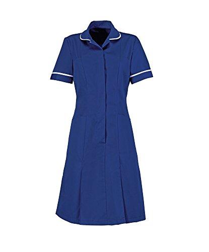 Alexandra Workwear Womens Zip Front Healthcare Dress Royal Blue 20 T
