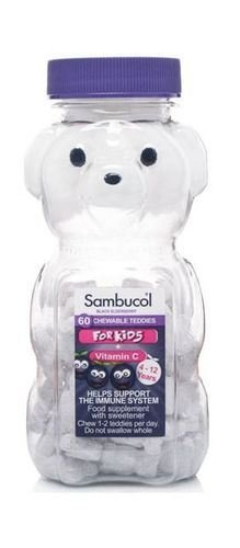 (6 PACK) - Sambucol Black Elderberry Teddies Vitamins For Kids | 60s | 6 PACK - SUPER SAVER - SAVE MONEY