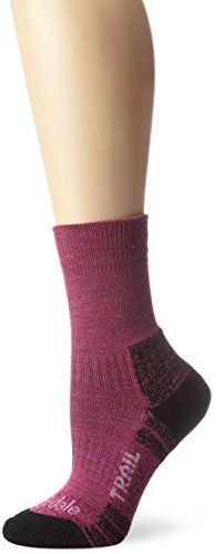 Bridgedale Women's WoolFusion Trail Socks, Berry, Small ()