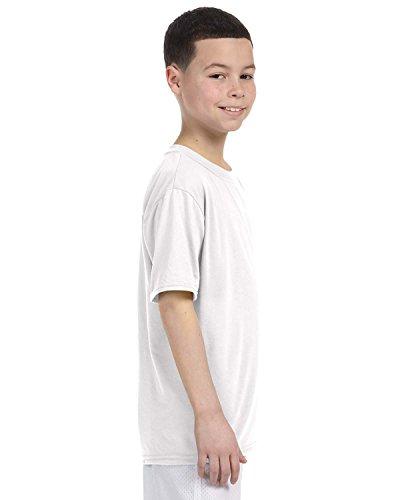 By Gildan Youth Performance 5 Oz T-Shirt - White - XS -