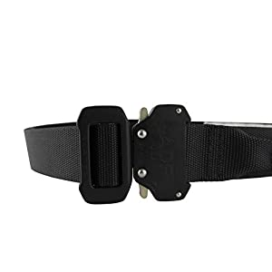 "Fusion Tactical Military Police Riggers Belt Black Medium 33-38""/1.5"" Wide"