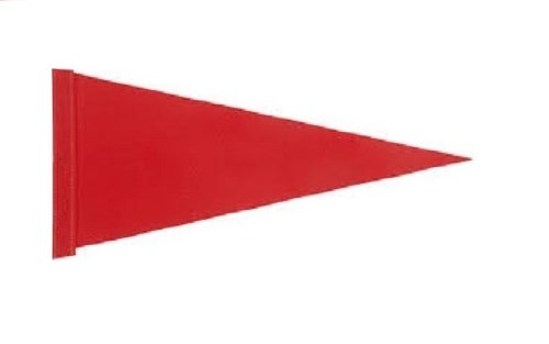 6 ft. Red Pennant Bicycle Safety Flag with Rear Axle Mounting Bracket (Bike Flag)