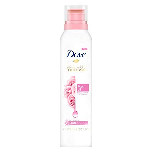 (Dove Concentrated Body Wash Mousse Rose Oil, 10.3 oz)