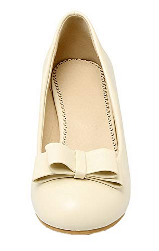 Unie Rond Cuir Beige Aalardom Pu Femme Couleur Chaussures Tsfdh004095 Légeres qpnxOHxw