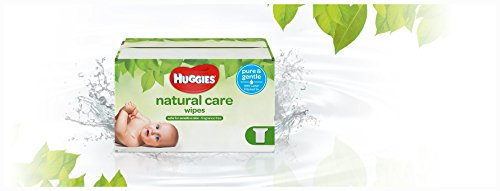 Large Product Image of HUGGIES Natural Care Unscented Baby Wipes, Sensitive, 3 Refill Packs, 648 Count Total