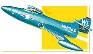 AMT Grumman F9F Panther Fighter Jet 1/48 Scale Airplane Model Building Kit