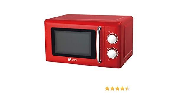 Microondas vintage básico colores pastel (Rojo): Amazon.es: Hogar