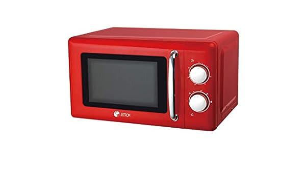 Microondas vintage básico colores pastel (Rojo): Amazon.es ...