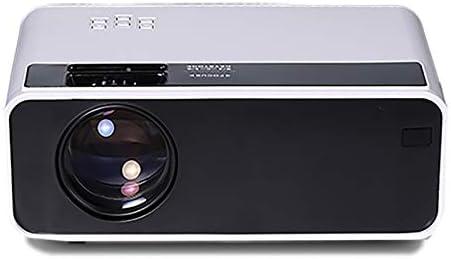 Opinión sobre YANTAIAN Proyectores LED D60 4 Pulgadas 2800 lúmenes 1280x720 Proyector LED HD portátil con Control Remoto, Soporte USB/Tarjeta SD/Audio/VGA/HDMI