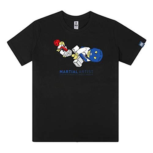 Mooto Taekwondo Kick T-Shirt Black White 2 Colors MMA Martial Arts TKD Karate Kick Boxing Team Clothing (Black, 150)