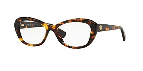 Versace Women's VE3216 Eyeglasses Transprent Violet - Authentic Frames Eyeglasses