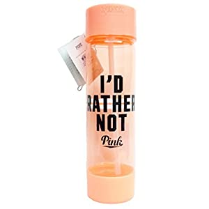 Victoria's Secret PINK Campus Water Bottle Neon Coral - I'D RATHER NOT