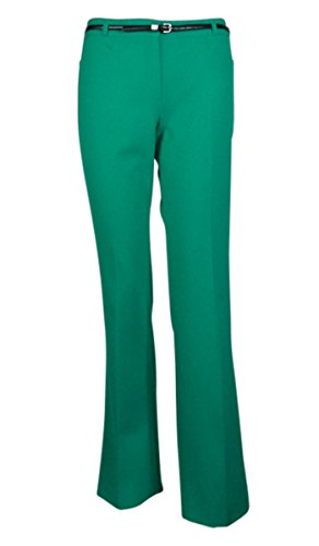 Calvin Klein Women's Belted Straight Pocketed Modern Pant (0, Jade)