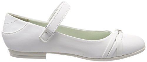 s.Oliver Mädchen 52800 Mary Jane Halbschuhe Weiß (White)