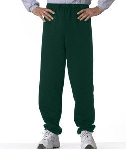 G182 Gildan 7.75 oz. Heavy Blend 50/50 Sweatpants - Forest Green M