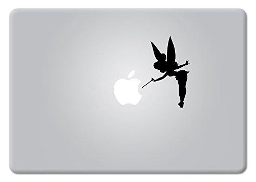 Tinker Bell Version 2 Fairy Peter Pan Disney for MacBook Laptop die-Cut Vinyl Decal Sticker (Black)