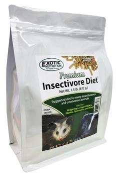 Exotic Pets Sugar Glider (Premium Insectivore Diet 1.5 lb. - for Hedgehogs, Skunks, Opossums, Sugar Gliders)