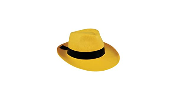 d87c71593 Amazon.com: Yellow Gangster Hat Dick Tracy The Mask 20s Fedora ...
