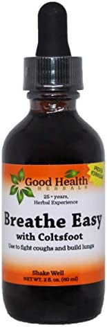 Breath Easy with Coltsfoot – Good Health Herbals- Herbal Extract 2 oz.