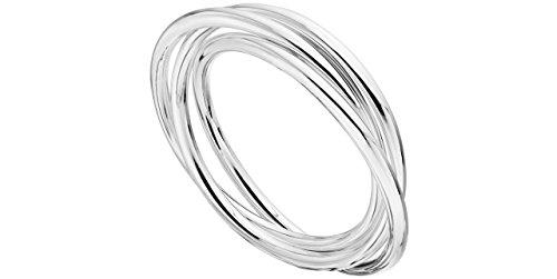 Canyon bijoux Bracelets joncs en argent 925 passivé, 23g, Ø65mm
