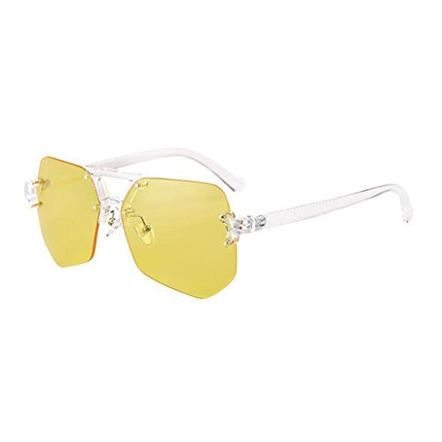 Amarillo Pink QZ De HOME Gafas Sol Polarizada Luz Vintage Color De Simple Caja Moda Personalidad Grande ZZqUcCx4w