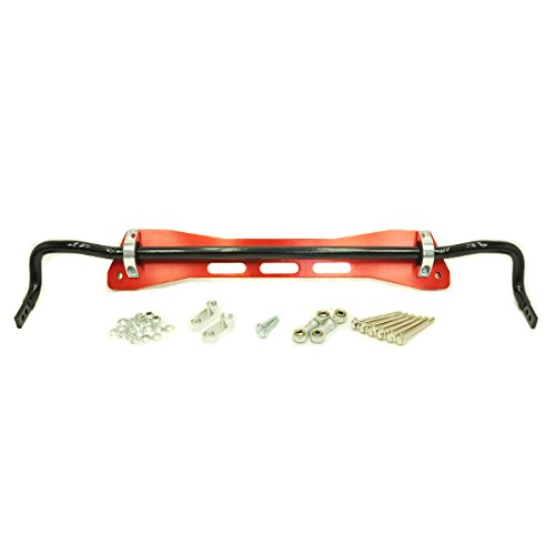 Asr Subframe - Rev9 (SB-060-RED-B) Rear Sway Bar With Subframe Brace Kit, Red, made for Honda Civic 1992-95