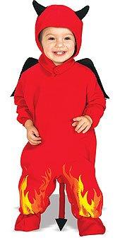 Rubie's Costume EZ-On Romper Costume, Lil' Devil, 6-12 Months - Devil Costume For Infants