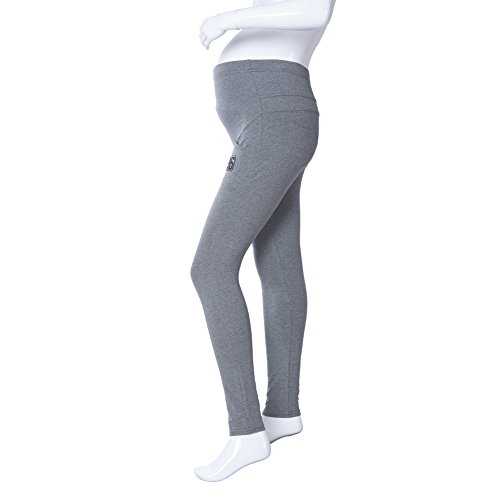 Pinksee Spring Belly Skinny Pocket Maternity Leggings Elastic Cotton Adjustable Waist Yoga Sporty Pregnancy Pants Clothes for Pregnant Women