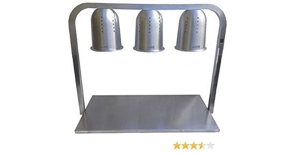 Mesa de Calentado de Comida y Platos - 3 Lámparas - Producto de Hostelería Comercial: Amazon.es: Hogar
