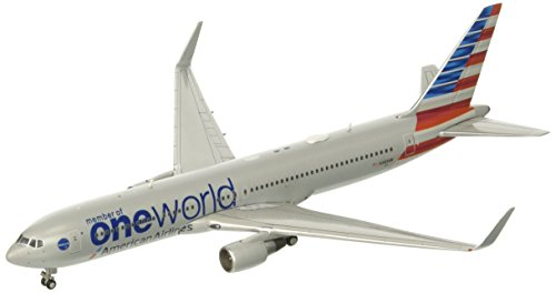 GeminiJets American Airlines One World B767-300 N343AN 1:400 Scale Diecast Model (American Airlines Boeing 767 300)
