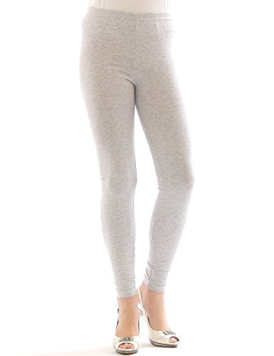 YESET Femme Legging longueur longues caleçons en coton GRIS CLAIR XXXL