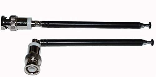A Pair Telescopic Antennas BNC Connectors for Portable Radio Scanner onlineservice-usa
