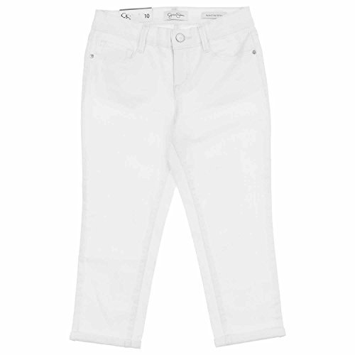 Jessica Simpson Rolled Crop Skinny Jean for Girls (14, White)