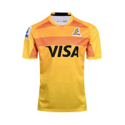 Ageaoa Men's Jaguar Rugby Jersey Official Rugby T-Shirt Supporters Home Jersey Breathable T-Shirt Super Light Pro Jersey Sportswear,Yellow,L