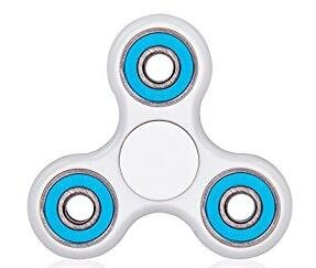 SPINTECH - Omega Tri-Spinner Fidget Toy With Premium Hybrid Ceramic Bearing (same size, White)