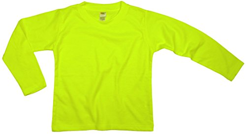 Earth Elements Little Kids'/Toddlers' Long Sleeve T-Shirt 4T Neon Yellow