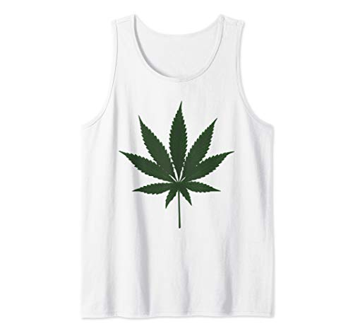 Lazy Halloween Costume Shirt Funny Weed Giant Marijuana Leaf Tank Top -