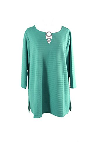 Jm Collection Plus Size Embellished Keyhole Tunic (Green)  1 X from JM Collection