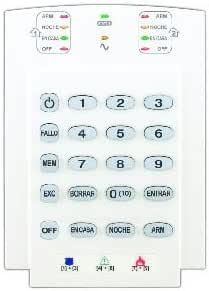Paradox k10 V teclado con indicadores LED 10 zonas y puerta ...