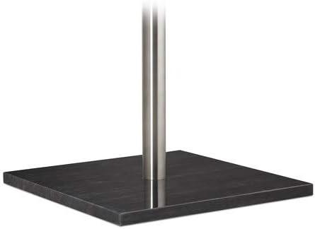 Silver M/étal marbre Relaxdays 10021270 Porte Pierre Design sur Pied Support pour Manteaux Vestes entr/ée Couloir HxlxP 180 x 30 x 30 cm