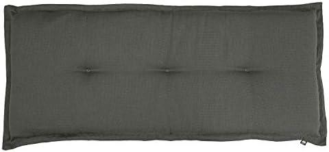 KOPU® Bankauflage Manchester Grey | Auflagen für Gartenbank | Grau Bank Auflagen 120 x 50 cm | 6 Einfache Farben | Dralon | Robuster Schaumstoff für zusätzlichen Komfort