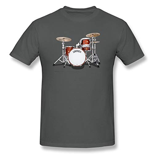 WENSON Men's Gretsch-Drums-Gretsch-Catalina-Club-Jazz-percussio-Drumset Classic T Shirt Deep Heather 3XL with Short Sleeve