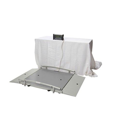 Health O Meter 2700KL Digital Wheelchair Dual Ramp Scale, X-Large Platform, Capacity 1000 lb, 43'' x 42'' x 2-1/2'' Platform, 12-3/4'' Width x 42'' Depth Ramp by Health o meter