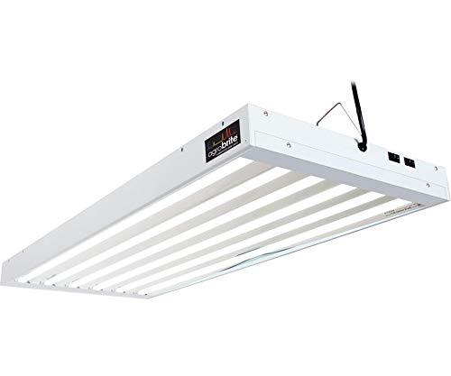Hydrofarm Agrobrite FLT46 T5 Fluorescent Grow Light System, 4 Feet, 6 ()
